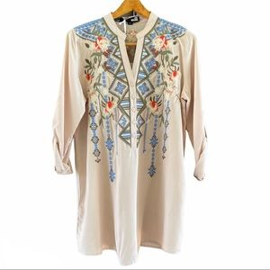 Love Moschino Embroidered Tunic Blouse 2